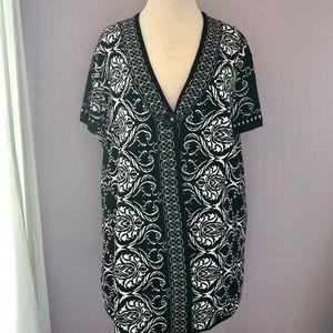Style & Co Beautiful Black/White Cotton Cardigan